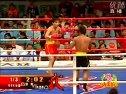 郭辉猛击美国毛男,第一回合(08中美散打对抗赛60KG级)