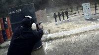 天津警察炫酷枪法演示