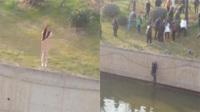 南京:女子裸体跳河轻生现场