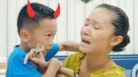 男孩恶魔附体暴打母亲