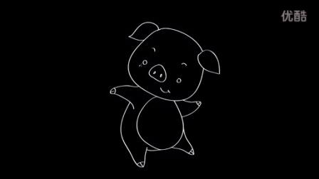 宝宝学画画 儿童简笔画-猪图片