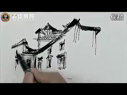 庐山手绘艺术特训营——余工钢笔画宏村池塘