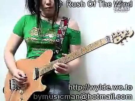 韩国美女玩吉他rush of