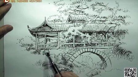 手绘培训 景观手绘 建筑手绘 室内手绘 产品手绘 重庆钢笔画