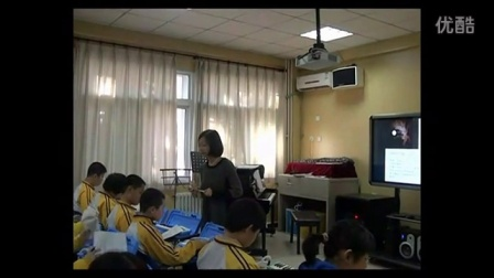 人教版八年级音乐上册《彩云追月》省级优课视频,北京市