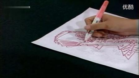 剪纸教学第九十五讲 装饰剪纸教学第-穆桂英(一)剪纸教学视频