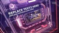 多维立体数据集展示模板 The Intense Techno Cube Template